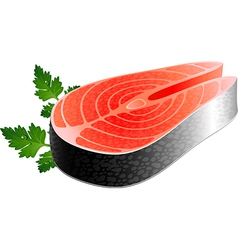 Salmon steak vector