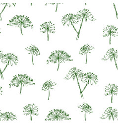 Seamless pattern sketches inflorescence of vector