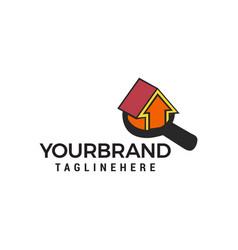 search home logo design concept template vector image