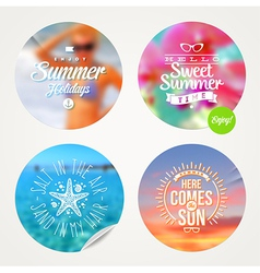 Summer holidays and tropical vacation set vector image