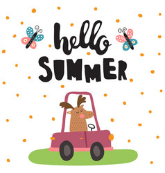 Summer moose vector