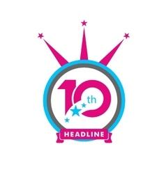 Ten symbol years anniversary logo discount vector