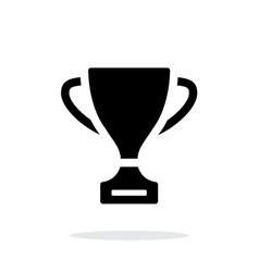 Trophy icon on white background vector image