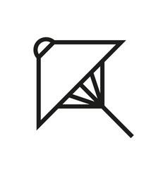 umbrella icon on white background vector image