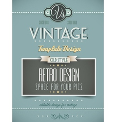 Vintage retro page or cover template vector image