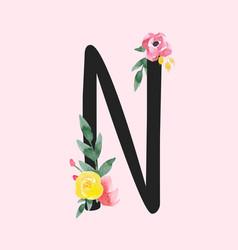 Watercolor roman alphabet capital letter vector