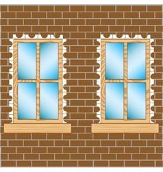 Window in wall vector image