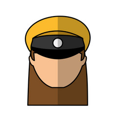 Woman taxi driver avatar vector