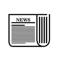 icon news paper white background graphic isolated vector image