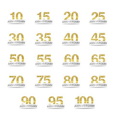isolated golden glitter numbers with word vector image