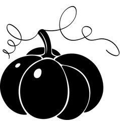 pumpkin silhouette vector image vector image