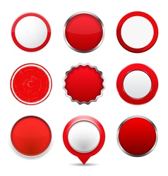 Red Round Buttons vector image vector image