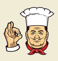 chef face vector image vector image