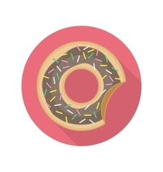 Chocolate donut icon vector image
