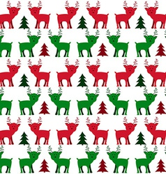 Christmas Holiday Seamless Pattern with Little vector image