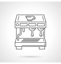 Flat thin line coffee shop equipment icon vector image