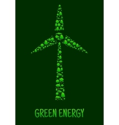 Green Energy eco environment poster vector image vector image