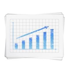 Hand Drawn Bar Graph vector image vector image