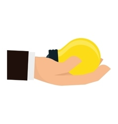hand holding lightbulb icon image vector image vector image
