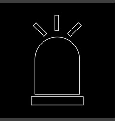 siren the white path icon vector image vector image