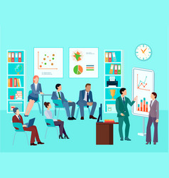business analytics meeting composition vector image
