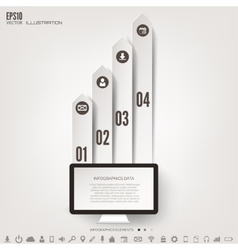 Business step infographic Timeline background vector image