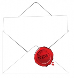 envelope and paper vector image vector image