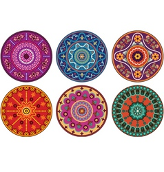 Indian color ornament vector