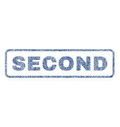 Second textile stamp vector