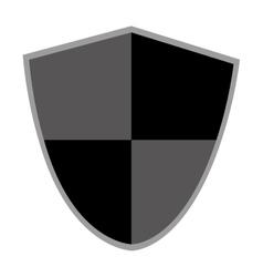 black and grey shield vector image