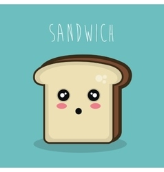 cartoon character sandwich icon design vector image