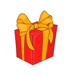 Holiday gift box icon cartoon style vector image vector image