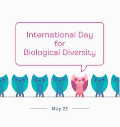 international day for biological diversity vector image vector image