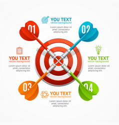 target with arrow menu infographic option banner vector image vector image
