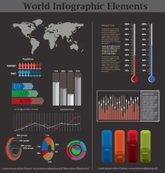 world infographic elements vector image
