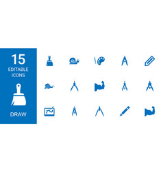 15 draw icons vector