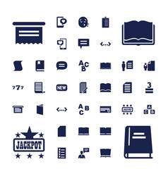 37 text icons vector image