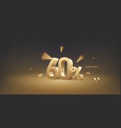 60 percent off discount sale vector image