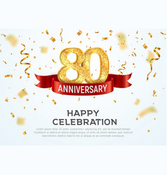 80 years anniversary banner template vector image