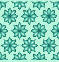 abstract seamless floral pattern regularly vector image