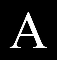 Alpha icon vector