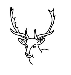animal deer icon design clip art line icon vector image