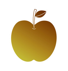 apple fruit fresh food health icon vector image
