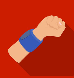 arm with bandagebasketball single icon in flat vector image