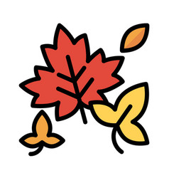 Autumn leaves icon thanksgiving related vector
