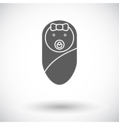 Baby girl icon vector image