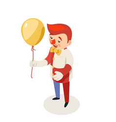 balloon clown isometric circus joke fun party vector image