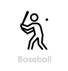 baseball sport icons vector image