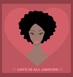 beautiful african american woman with lovely vector image