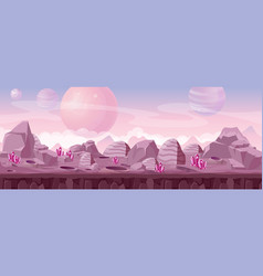 Beautiful alien landscape vector